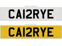 Carrie/Carey - Personal/Private Number Plate