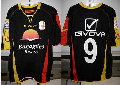 messina shirt maglia corona nr 9 taglia L 2012-13 + toppa lega calcio lnd  image