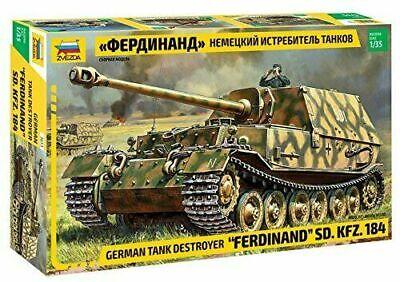 "Zvezda 3653 Panzer Battle TankSd. Kfz.184 ""Ferdinand Tiger"" Model Bausatz 1:35"