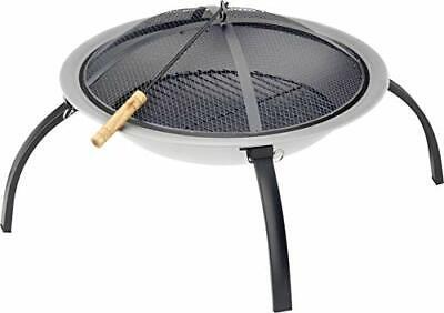 New Cast Iron Garden Fire Pit - Brazier Patio Steel Firepit Outdoor Bowl Bonfire