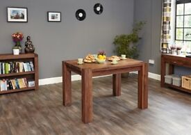 Baumhaus Shiro Walnut Dining Table - Retail £489 - Solid Walnut throughout with Satin Lacquer finish