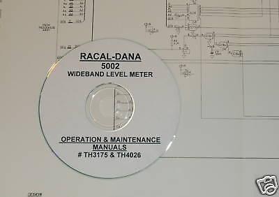 Racal-dana 5002 Operating Maintenance Manuals 2-vols