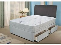 【CRAZY PRICE】 DOUBLE DIVAN BED + 1000 POCKET SPRUNG MATTRESS & FREE DELIVERY