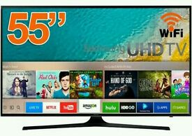 "Samsung 55"" 4k UHD smart wifi tv HD freeview."