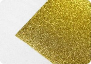 "1 Yard Gold Glitter Heat Transfer Vinyl  Width is 20"" T-shirt heat press  002702"