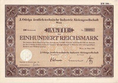 J. Odelga ärztlich-technische Industrie AG  1940 Wien