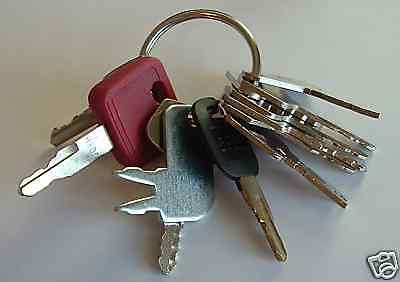 !12 Keys - Heavy Construction Equipment Key Set - NEW!