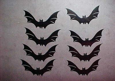 Fledermaus Aufkleber Fensterbild Wandtattoo Halloween Sticker 8 Stück  (Halloween Fenster Aufkleber)