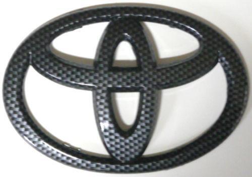toyota emblem black ebay. Black Bedroom Furniture Sets. Home Design Ideas