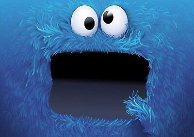 Cookie Monster - A4 Glossy Poster - Film Movie Free Shipping #682