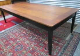 Amazing Large Vintage Reclaimed 9ft x 4ft Dining Table