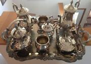 Antique Silver Plate Tea Set