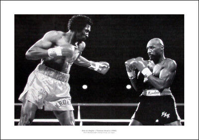 Marvin Hagler v Thomas Hearns 1985 Boxing Photo Memorabilia (031)