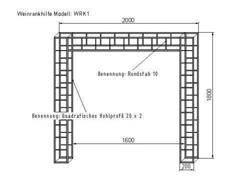 rankhilfe verzinkt pergolen spaliere ebay. Black Bedroom Furniture Sets. Home Design Ideas