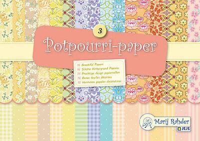 ck Potpourri Punkt Karo Flower Blumen Marij Rahder 9-0012 (Karo-papier)