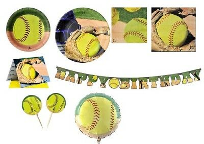Softball Party Supplies (Fast Pitch Softball Party supplies, plates, napkins, invitations,)