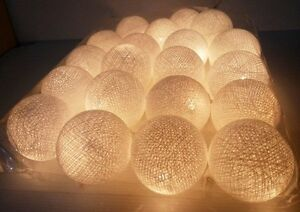 STRING-LIGHT-WHITE-COTTON-BALL-20-PARTY-PATIO-FAIRY-DECOR-CHRISTMAS-WEDDING