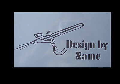 Airbrush Schablone Step by Step 329 Airbrush Pistole