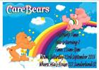 Unbranded Care Bears Greeting Invitations