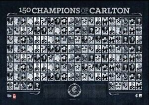 150 CHAMPIONS OF CARLTON OFFICIAL CARLTON BLUES FOOTBALL CLUB PRINT CHRIS JUDD