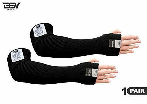 "Kevlar 18"" Arm Sleeves (Black) Cut/Scratch/Heat/Knife Resistant-Made with Kevlar"