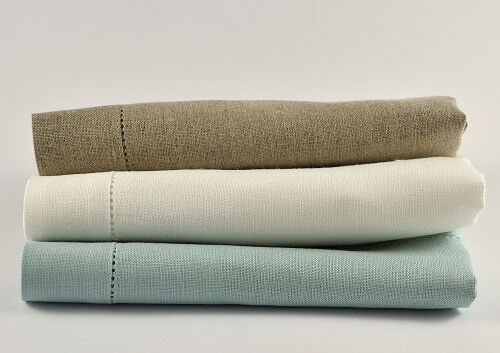 100% PURE LINEN TABLECLOTH (3 COLOURS TO CHOOSE FROM)