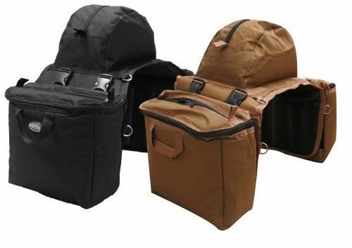 Showman Heavy Nylon Saddle Bag w/ Insulated & Detachable Side Cooler