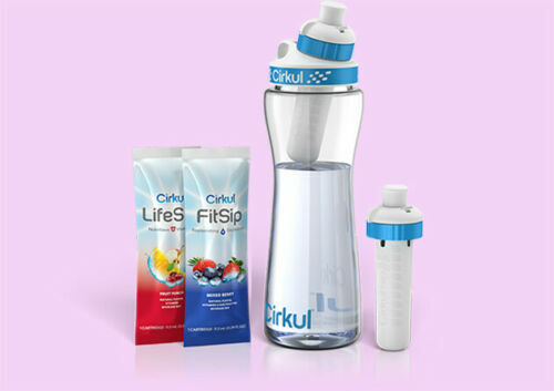 Cirkul Hydration Pack Water Bottle 22 oz Free Shatter Proof