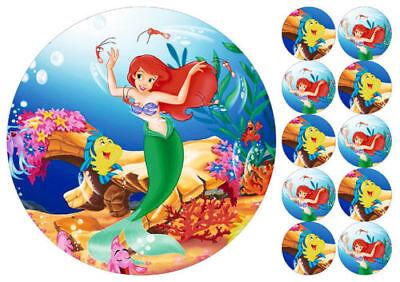 Tortenaufleger----Ariel---Geburtstag--Party---Fondant //Oblate