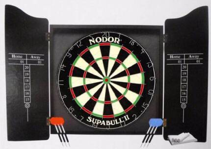 Black Knight dart board, cabinet, 6 darts + FREE mystery gift Holden Hill Tea Tree Gully Area Preview