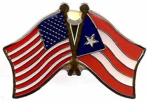 USA Puerto Rico Friendship Crossed Lapel Hat Pin Tie Tac FAST USA SHIPPING