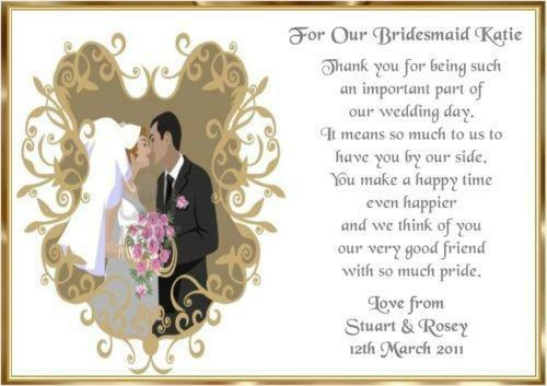 Bridesmaid Thank You Cards Ebay