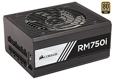 Corsair RMi Series, RM750i, 750 Watt 750W, Fully Modular Power Supply, 80+ Gold