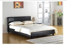 Double faux leather beds brand new £85