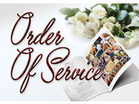 Funeral Order Of Service Print - 0141 5500 400 BC Printing Glasgow