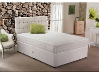 Brand New Double/Small Double Divan Bed Bases with 9inch thick Dual-Sided Semi Orthopaedic Mattress
