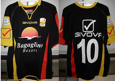 messina shirt maglia leon nr 10 taglia L 2012-13 + toppa lega calcio lnd  image