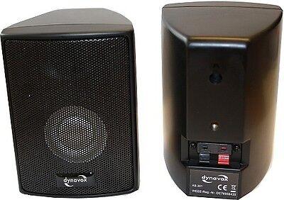 1 Paar Satelliten Lautsprecher Boxen Dynavox AS-301 schwarz