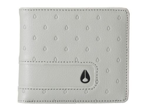 Men's Nixon Showoff Bi-Fold Leather Look Gray Wallet. MSRP $