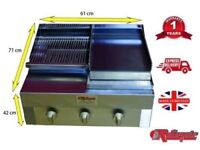 3 BURNER FLAME GRILL CHARCOAL GRILL/GRIDDLE & HOT PLATE CHARGRILL BBQ GRILL CHICKEN BURGER LAMBCHOP