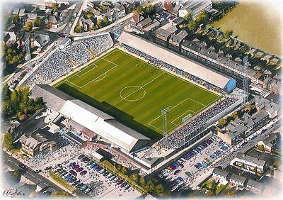 Elm Park Stadia Art A4 Print - Reading FC
