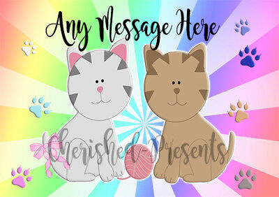 Personalised A4 Cat Dog Pet Feeding place mat Food Water Dinner LAMINATED