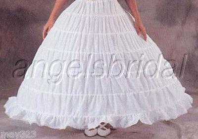 MEGA FULL COTTON 6 HOOP BONE BRIDAL WEDDING GOWN PROM DRESS PETTICOAT SKIRT SLIP - Full Wedding Gown Bridal Petticoat
