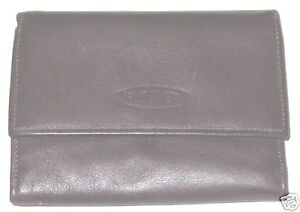 Brown-4X5-Tri-Fold-Wallet-Guido-Vietri-Billfold-Purse-Leather-Coin