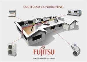 FUJITSU DUCTED SPLIT SYSTEM AIR CONDITIONING - FULLY INSTALLED !! Hallam Casey Area Preview