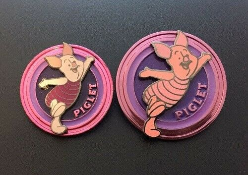 Disney World Winnie the Pooh friend Piglet Disk Series Prototype 2 Pin Set