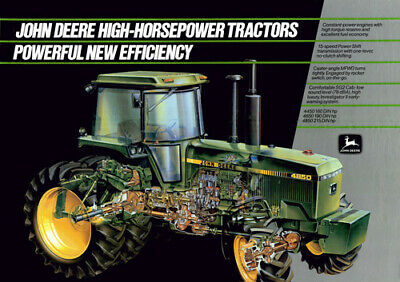 A3 John Deere Tractor 4450 4650 4850 Cutaway Wall Poster Brochure Picture