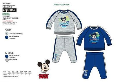 Disney Mickey Mouse Jogginganzug Sportanzug Freizeit Trainingsanzug Grau/Blau