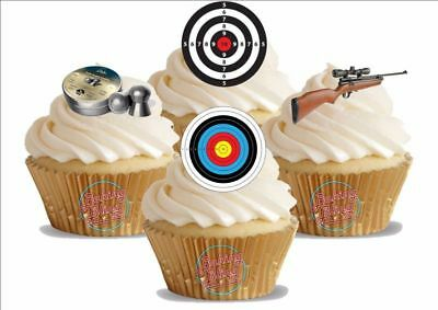 Target Cake Decorations (Novelty Air Rifle Shooting Target Mix Edible Cake Toppers Decorations)