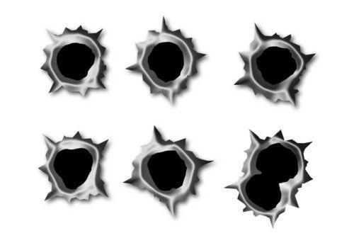 Bullet Hole Stickers Vehicle Parts Amp Accessories Ebay